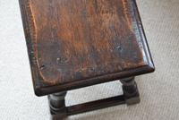 Antique 18th Century Oak Joint Stool (8 of 10)