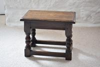 Small Antique Early 19th Century Oak Peg Jointed Side Table (3 of 10)