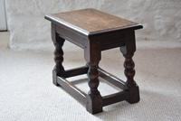 Small Antique Early 19th Century Oak Peg Jointed Side Table (4 of 10)
