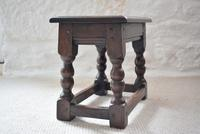 Small Antique Early 19th Century Oak Peg Jointed Side Table (5 of 10)