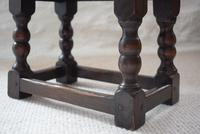 Small Antique Early 19th Century Oak Peg Jointed Side Table (7 of 10)