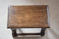 Small Antique Early 19th Century Oak Peg Jointed Side Table (9 of 10)