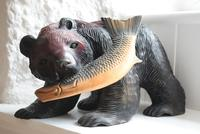 Carved Wooden Bear with Salmon Ainu Japan (3 of 10)