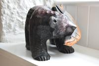 Carved Wooden Bear with Salmon Ainu Japan (5 of 10)