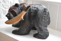 Carved Wooden Bear with Salmon Ainu Japan (8 of 10)
