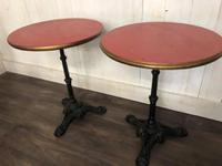 Pair of Vintage Cast Iron Pub Tables