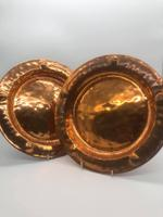 Pair of Copper Wall Plaques