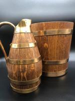 French Oak Coopered Bucket & Jug c.1920