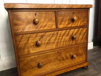 Victorian Satinwood Chest of Drawers (3 of 7)