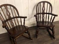 Pair of Childrens Elm Rocking Chairs (6 of 7)