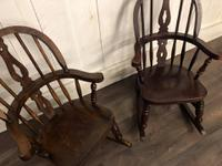 Pair of Childrens Elm Rocking Chairs (7 of 7)