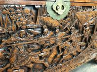 Large Eastern Carved Camphor Wood Chest (5 of 9)