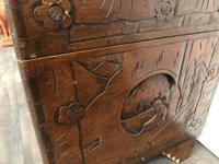 Large Eastern Carved Camphor Wood Chest (6 of 9)