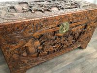 Large Eastern Carved Camphor Wood Chest (3 of 9)