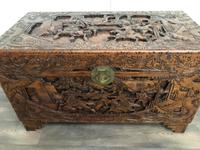 Large Eastern Carved Camphor Wood Chest (2 of 9)