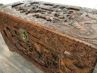 Large Eastern Carved Camphor Wood Chest (7 of 9)