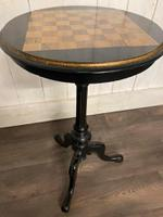 Aesthetic Movement Tilt Top Chess Board Top Table (4 of 9)