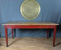 Good Sized Useful French Cherry Wood Farmhouse 8Seater Dining Table