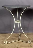 French Zinc Topped Bistro Pavement or Terrace Table (4 of 6)