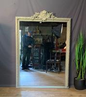 Superb Large French Chateau Painted Mirror (13 of 14)