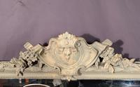 Superb Large French Chateau Painted Mirror (7 of 14)