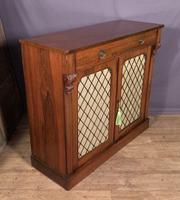 Good Looking Useful Late Regency Rosewood Chiffonier (7 of 7)