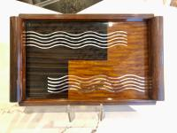 French Art Deco Inlaid Cocktail Tray
