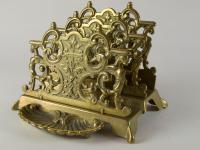 French Brass Letter & Pen Holder