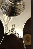 1873 Silver Crystal Spices Set (9) - Biedermeier - Bone, Crystal, Mahogany, Silver (18 of 19)