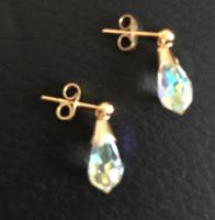 Gold Crystal Droplet Earings (4 of 5)