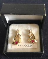 Vintage Gold Crystal Earrings