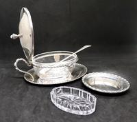 Marco Style Silver & Crystal Glass Parmesan & Salt Bowl (11 of 12)
