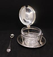 Marco Style Silver & Crystal Glass Parmesan & Salt Bowl (3 of 12)