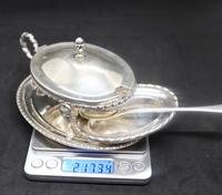 Marco Style Silver & Crystal Glass Parmesan & Salt Bowl (12 of 12)