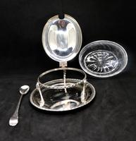 Marco Style Silver & Crystal Glass Parmesan & Salt Bowl (4 of 12)