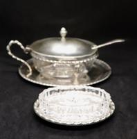 Marco Style Silver & Crystal Glass Parmesan & Salt Bowl (10 of 12)
