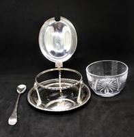 Marco Style Silver & Crystal Glass Parmesan & Salt Bowl (5 of 12)