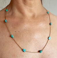Gold & Turquoise Necklace (7 of 7)