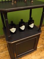Antique Black Painted Tiered Cabinet (11 of 13)