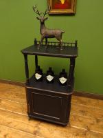 Antique Black Painted Tiered Cabinet (12 of 13)