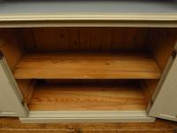 Painted Book Cabinet Dresser, Housekeepers Cabinet, Farrow & Ball Drop Cloth (7 of 16)