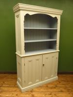 Painted Book Cabinet Dresser, Housekeepers Cabinet, Farrow & Ball Drop Cloth (8 of 16)