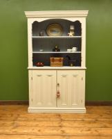 Painted Book Cabinet Dresser, Housekeepers Cabinet, Farrow & Ball Drop Cloth (12 of 16)