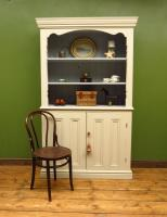 Painted Book Cabinet Dresser, Housekeepers Cabinet, Farrow & Ball Drop Cloth (2 of 16)
