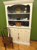Painted Book Cabinet Dresser, Housekeepers Cabinet, Farrow & Ball Drop Cloth (13 of 16)