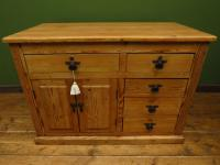 Unusual Antique Victorian Rustic Pine Sideboard Kitchen Island (3 of 17)