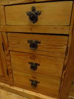 Unusual Antique Victorian Rustic Pine Sideboard Kitchen Island (6 of 17)