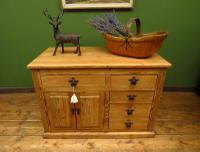 Unusual Antique Victorian Rustic Pine Sideboard Kitchen Island (17 of 17)