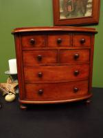 Victorian Apprentice Piece Mahogany Chest of Drawers, Superb Quality (2 of 15)