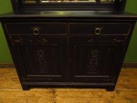 Art Nouveau Black Painted Sideboard Chiffonier Dresser with Mirrored Top, Gothic (2 of 19)